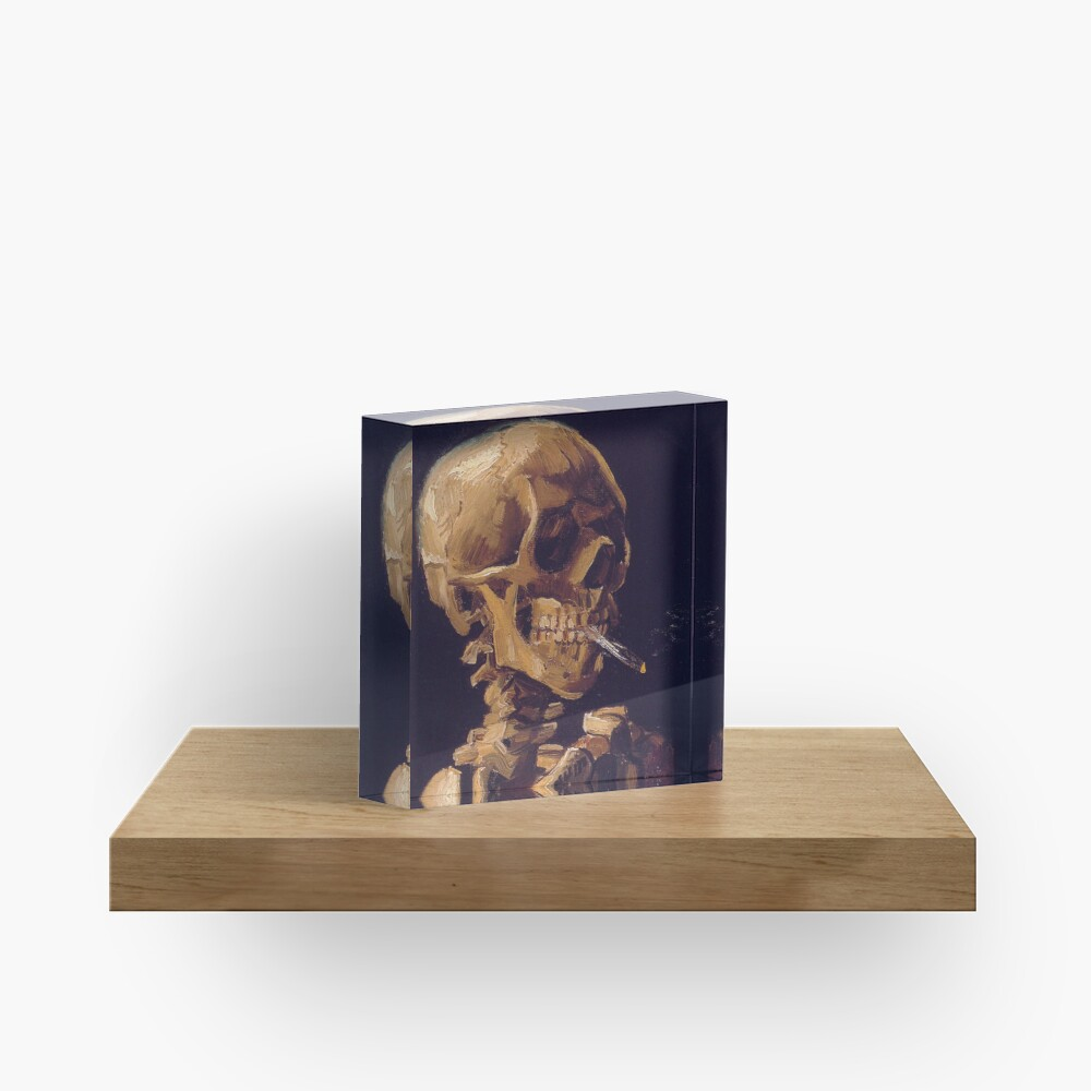 Vincent Van Gogh's 'Skull with a Burning Cigarette'  Acrylic Block