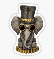 Steampunk Baby Elephant Sticker