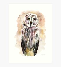 Gary the Great Gray Owl  Art Print