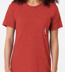hand holding cigarette and rose Tri-blend T-Shirt