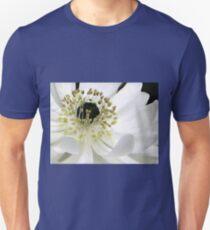 White Anemone Macro Unisex T-Shirt