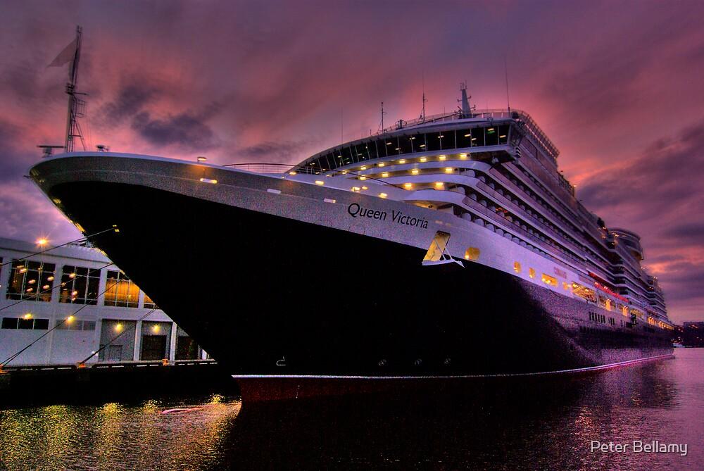 Queen Victoria New York Harbour by Peter Bellamy