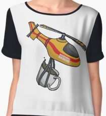 Morning Coffee Fun Illustration Chiffon Top