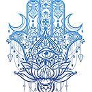 Hamsa Lotus Hand Design by MissChatZ