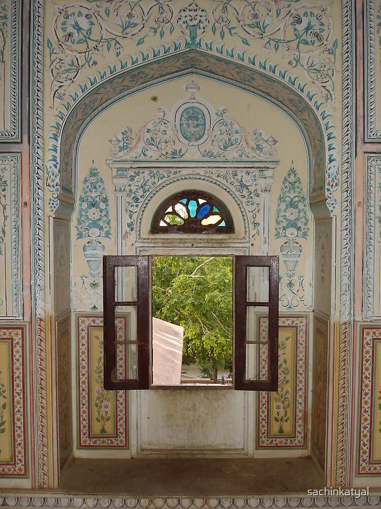 Window in Jaipuri Palace by sachinkatyal