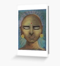 Meditating Greeting Card