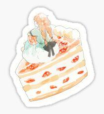 strawberry shortcake girl Sticker