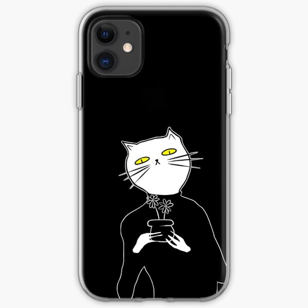 not aesthetic flower cat iPhone Soft Case