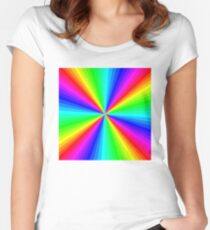 ABSTRACT PSYCHEDELIC: Modern Art Print Women's Fitted Scoop T-Shirt