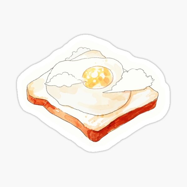 sunny side up (with clouds). Sticker