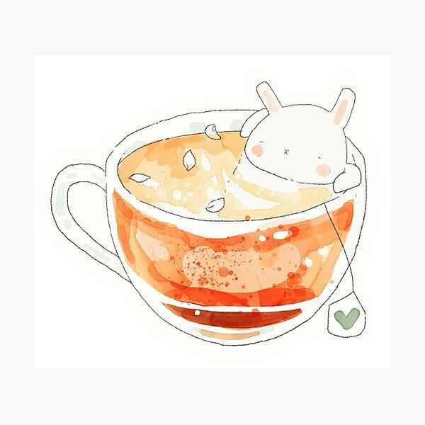 rabbit rose tea. Photographic Print