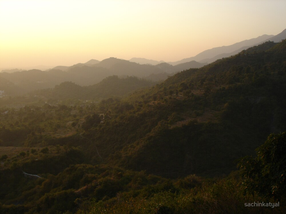 Mussoorie Hill Station Landscape by sachinkatyal