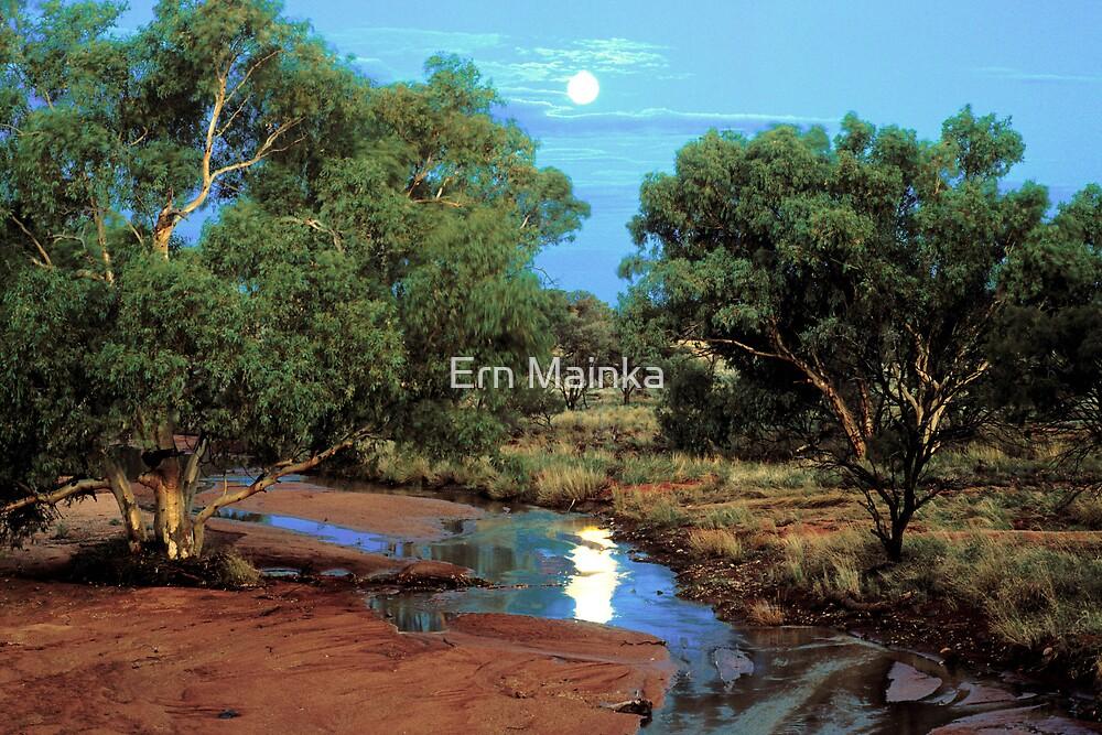 Outback Moonrise by Ern Mainka