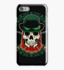 Leprechaun Skull with Crossed Pipes iPhone Case/Skin