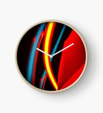 Neon - Red and Blue 4 Clock