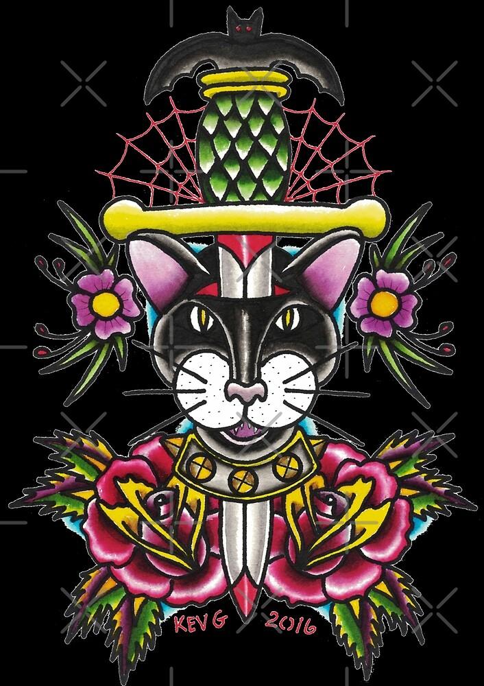 Cat Dagger - Art By Kev G by ArtByKevG