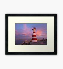 Maritime Navigation Beacon Peniche Portugal Framed Print