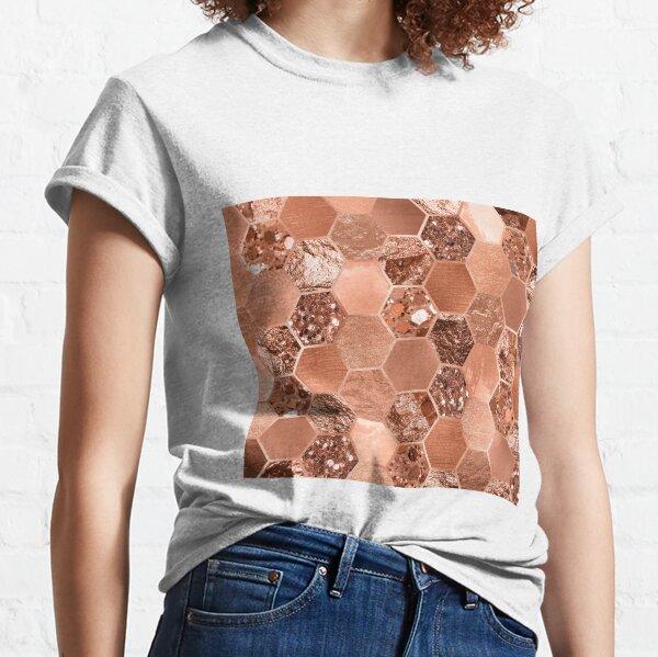 Rose gold hexaglam blonde Classic T-Shirt