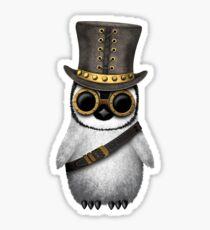 Steampunk Baby Penguin Sticker