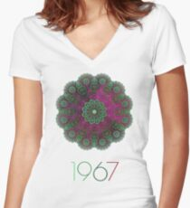 1967 Women's Fitted V-Neck T-Shirt