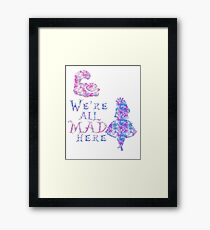 Pink and purple all mad Framed Print