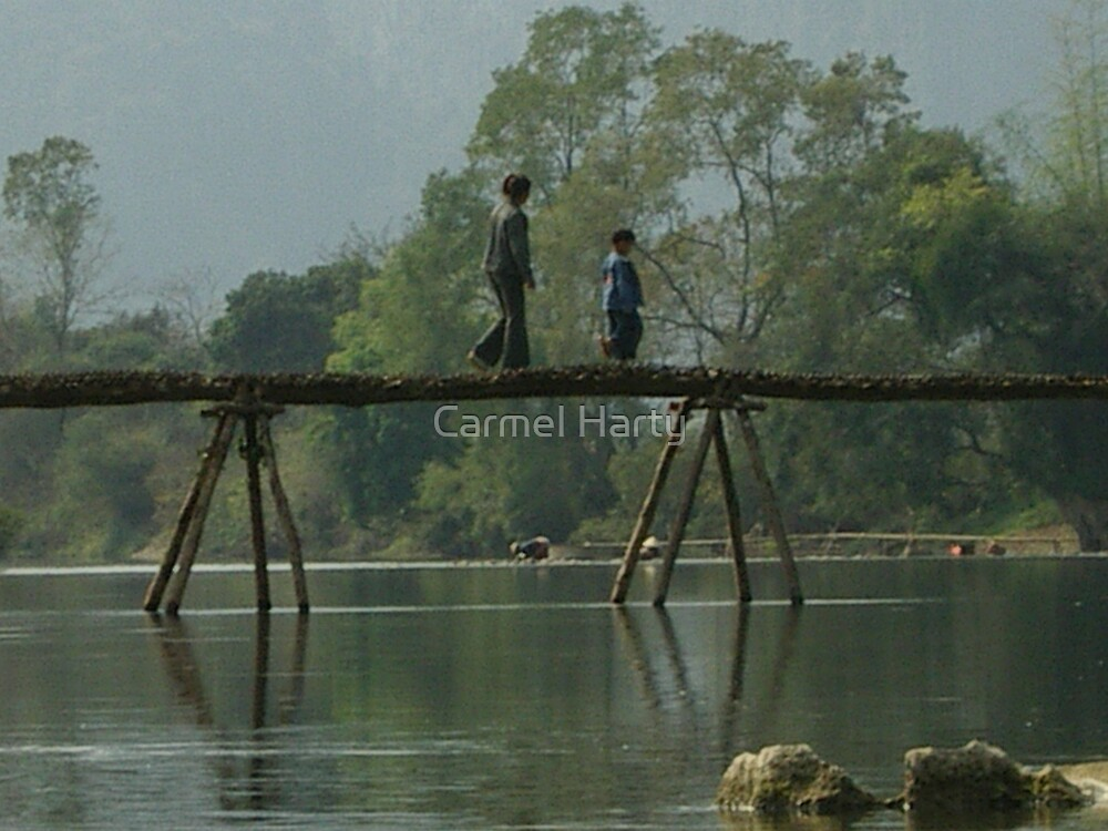 A Bridge crossing by Carmel Harty