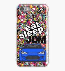 Eat Sleep JDM GT86 In Blue Sticker Bomb iPhone Case/Skin