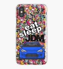 Eat Sleep JDM GT86 In Blue Sticker Bomb iPhone Case/Skin