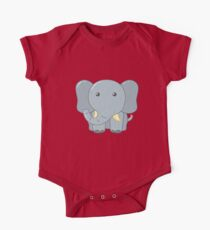 Cute Elephant for Kids One Piece - Short Sleeve