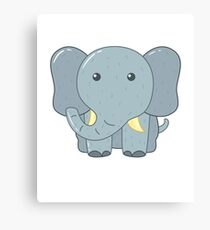 Cute Elephant for Kids Canvas Print
