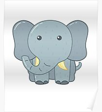 Cute Elephant for Kids Poster