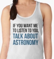 Funny Talk About Astronomy Women's Tank Top