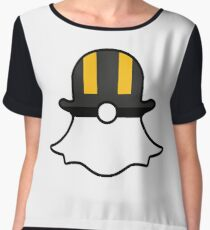 Ultra Ball Snapchat Logo Chiffon Top