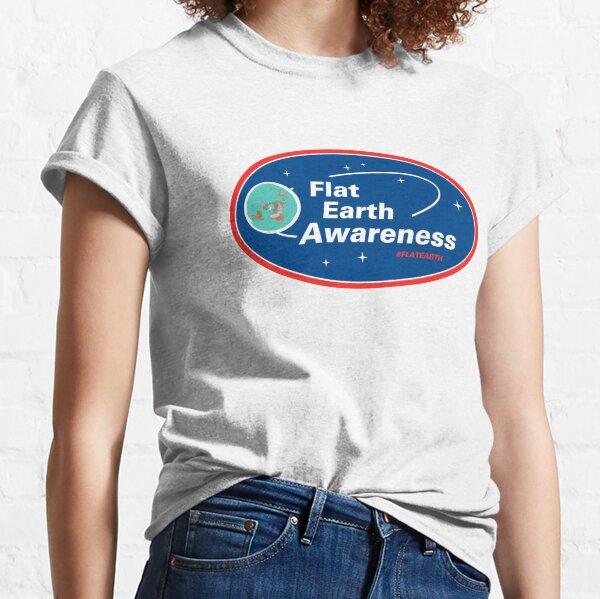Flat Earth Awareness Classic T-Shirt