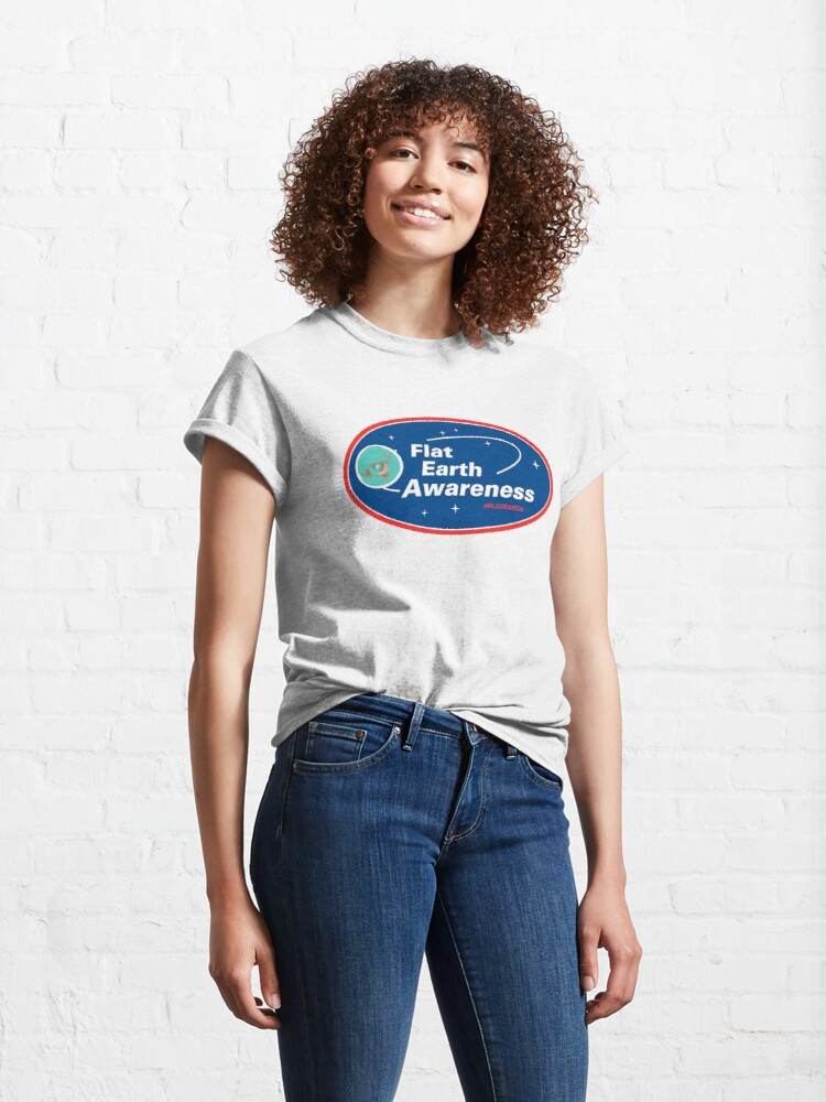 Alternate view of Flat Earth Awareness Classic T-Shirt
