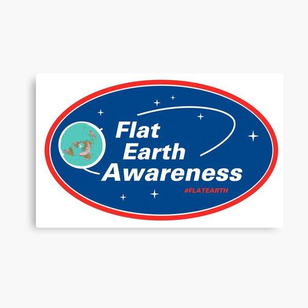 Flat Earth Awareness Canvas Print