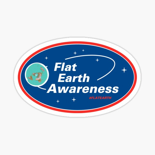 Flat Earth Awareness Sticker