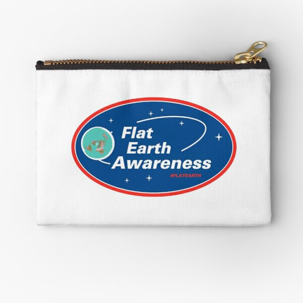 Flat Earth Awareness Zipper Pouch