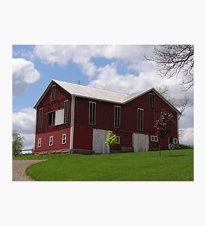 A Grand Red Barn Photographic Print
