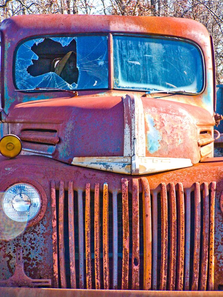 Rusty Truck Series #13 by Rod  Adams