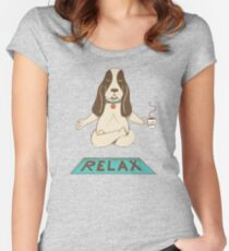 Dog Relax Women's Fitted Scoop T-Shirt