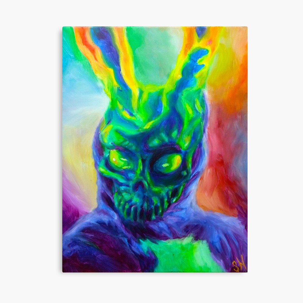 """Burn His House Down"" Acrylic Painting Canvas Print"