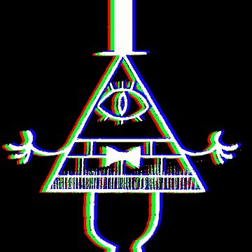 Bill Cipher - Anaglyph by LostHerMarbles
