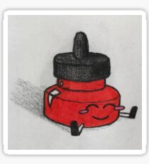 Red Ink Well Guy Sticker