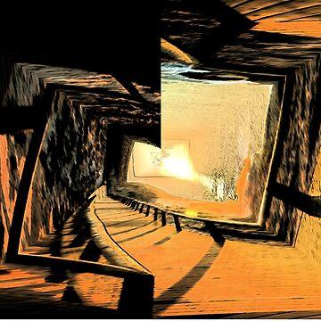 Sunrise Shadows - Digital Manipulation by muz2142