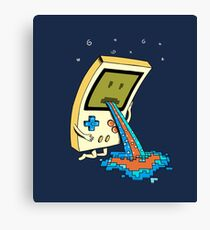 Gamer Vomit pixel Canvas Print