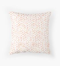 Pretty Peach Watercolor Abstract Throw Pillow