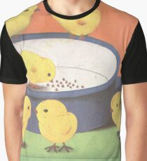 Seven Chicks Around The Pot Graphic T-Shirt
