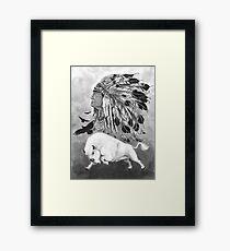 Bison blanc Framed Print