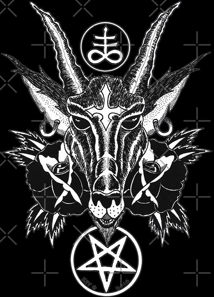 Baphoment and Satanic Symbols - Art By Kev G by ArtByKevG